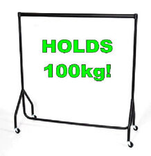 SUPER Heavy Duty Clothes Rail 6ft Long x 5ft High Garment Hanging Storage Rack