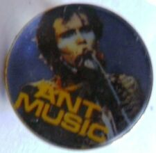ADAM ANT  'ANT MUSIC'  vintage crystal prismatic badge  ADAM AND THE ANTS