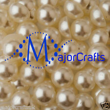 1000pcs Cream Ivory 5mm Flat Back Half Round Resin Pearls Nail Art Gems C14