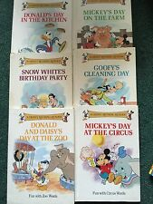 lot 6 vintage 1988 Disney Rhyming Reader Grolier year book childrens kids books