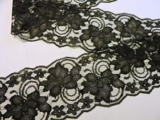 Black Lace 4 in.wide 5yds. Wedding Sewing Invitations Runners Galloon made inU.S