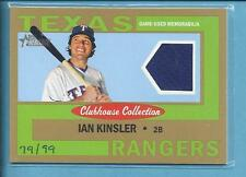2013 Topps Hertiage Game Used IAN KINSLER rangers #79/99 gold  No.CCR-IK