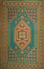 Mad Mats Large Oriental Turkish Indoor/Outdoor Floor Mat 4 by 6-Feet Aqua Rug