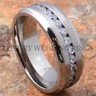 Titanium Wedding Band Engagement Diamond Ring Size 6-13