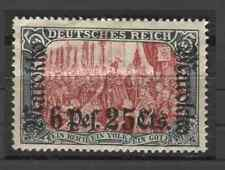 1911 German offices Morocco 6 P. 25 c issue with overprint mint*, € 150.00