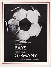 Programm | 1972-1973 | Baltimore Bays v Werder Bremen | Friendly @ USA