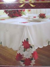 (New) Table Cloth Christmas Spirit -Ivory  ( 60 in x 84 in )