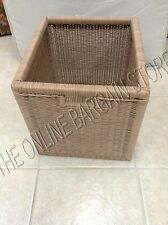 1 Frontgate Grandinroad Signature Stacking Storage Cube PVC Wicker BASKET 14x13