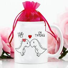 Personalised Dinosaurs Funny Mug & Chocolates Love Valentines Day Gift Cup VDM03