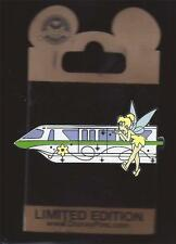Disney WDW Tinker Bell Green Monorail Gold Card Pin Le 1000 New on Card