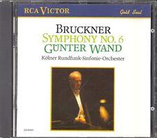 BRUCKNER - Symphony 6 - Gunter WAND / Kolner Rundfunk Sinfonie Orchester - RCA