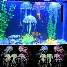 5pcs Artificial Glowing Effect Jellyfish Fish Decoration Aquarium Ornament