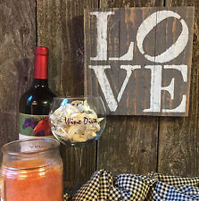 LOVE Sign Inspirational Rustic Wedding Country Cottage Beach House Decor Wood HP