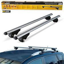 M-Way Aerodynamic Lockable Aluminium Car Roof Rack Rail Bars for Peugeot 207 SW