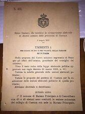 REGIO DECRETO MARANO PRINCIPATO CASTROLIBERO PEDIVIGLIANO SCIGLIANO NOCARA
