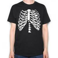 HALLOWEEN T SHIRT - RIB CAGE HALLOWEEN COSTUME HORROR T SHIRT !