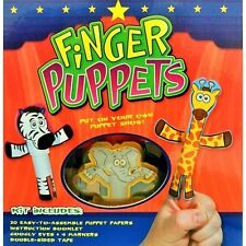 Finger Puppets Kit   Puppet kit for kids, puppet ministry   includes booklet
