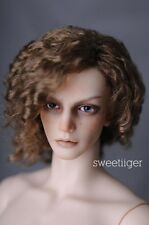 "8-9"" 1/3 BJD Hair IP SD doll wig Super Dollfie Flaxen slightly curled M-mohair"