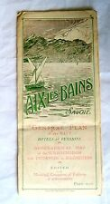 WW 1 ERA SOLDIERS MEMORABILIA ~  MAP OF AIX LES BAINS FRANCE 1915 FRENCH ALPS