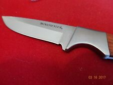 """WINCHESTER 8"""" WOOD HANDLE FIXED BLADE KNIFE 440A S.S. BLADE FULL TANG CONST."""