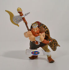 "2004 Mountain Warrior Dwarf King w/ Axe 4"" PVC Action Figure Papo"