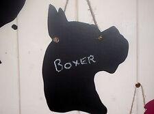 Boxer chien tête en forme de tableau noir board noël cadeau d'anniversaire pet un