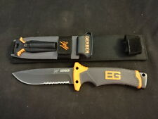 Bear Grylls Gerber Hunting Fixed Blade Knife With Sheath & Fire Starter