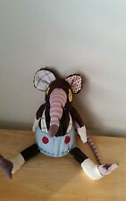 "Les Deglingos Original Ratos the Rat Stuffed animal Plush 13"" tall cute"