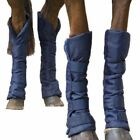 New Shires Travel Sure Boots padded blue warm stable wraps full cob pony 199