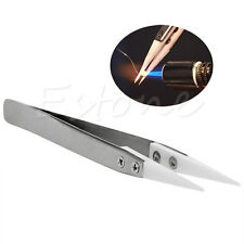 Heat Resistant Stainless Steel Ceramic Tweezers Pointed Tip For RDA RBA Coils