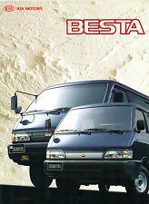 Kia Besta Van 1996 Export Markets Sales Brochure In English Passenger Cargo 4WD