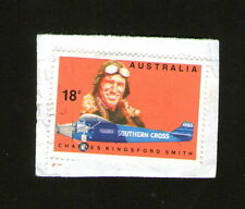 POSTAGE STAMP :  AUSTRALIA - CHARLES KINGSFORD SMITH / SOUTHERN CROSS - 18c Used