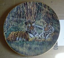 Royal Doulton Collectors Plate CORBETTI TIGERS From TIGERS OF THE WORLD
