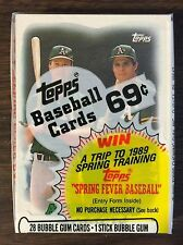 1988 TOPPS Cello Pack JOSE CANSECO & MARK McGWIRE Card on  (TOP) G7105219