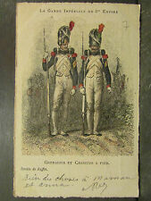 cpa illustrateur militaire garde imperiale 1er empire grenadier chasseur a pied