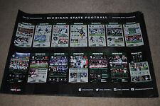 RARE 2013 Michigan State Spartans football poster MSU Dantonio 2014 ROSE BOWL