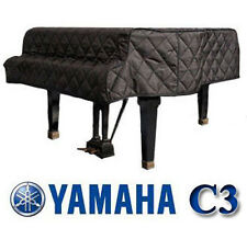 "Yamaha Grand Piano Cover C3 Black Quilted Cover 6'1"" C3F, G3, G3F"