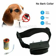 Electric Shock Anti Bark Dog Collar Stop Barking Pet Training Control Trainer