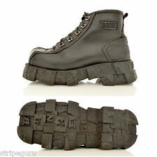 BUNKER mens 90s PLATFORM SHOES Eur 40 UK 6.5 thick chunky goth steampunk techno