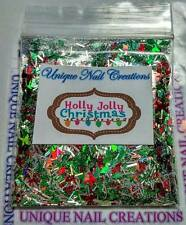 Limited Edition Glitter Mix~Holly Jolly Christmas* Comes With Alloy~ Nail Art