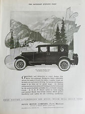 1924 Buick Motor Company Five Passenger Brougham Sedan Car  Original Ad