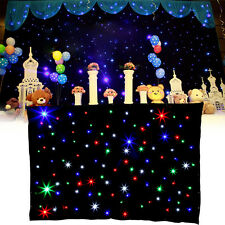 3 x 2m RGBW Multi-couleur LED Matrice DJ Garden Party Étoile de mariage Backdrop