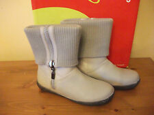 Girls BILLOWY 2122 Stone LEATHER Calf Length BOOT Size UK 13 EUR 32 NEW!