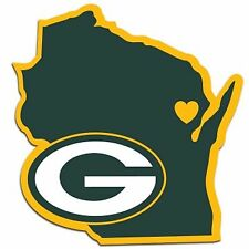 NFL Green Bay Packers Home State Auto Car Window Vinyl Decal Sticker