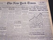 1953 SEPT 25 NEW YORK TIMES - U. S. TO ASK FOR A FREE NEUTRAL KOREA - NT 4616