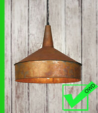 Industrial Vintage RUSTIC COPPER FUNNEL PENDANT LIGHT Copper Lamp