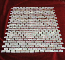 Mother Of Pearl MosaicTiles River Bed Nature Pearl Shell Mosaic Rectangler White