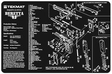 Beretta M9 or 92 Armorers Gun Cleaning Bench Mat w/Exploded View Schematic Parts
