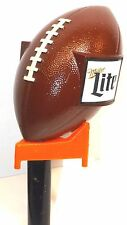 **MILLER Lite** Football & Tee-Figural- Draft Beer Keg Tap Handle-Tapper-Lot 351