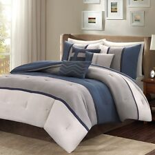 New Luxurious Madison Park Comforter Set 7-Piece King Size Bed Bedding Bedspread